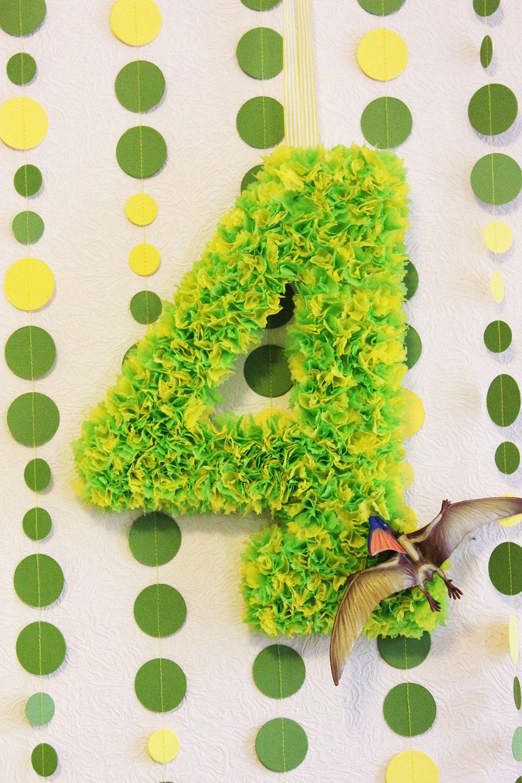 Объемная цифра 4 на день рождения своими руками фото