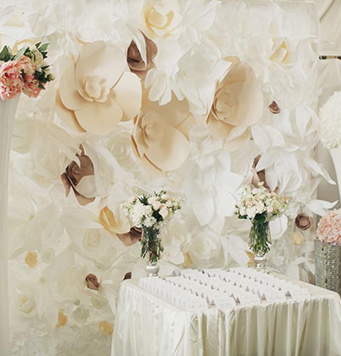 Свадебное оформление бумажными цветами (50 фото) 29